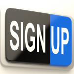 Sign Up Button Showing Website Registration